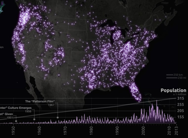 Us Map Of Bigfoot Sightings Looking for Bigfoot? Follow this map — others have seen 'em there