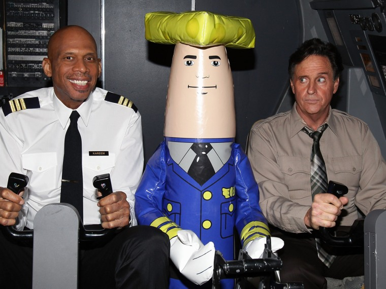 Image: Kareem Abdul-Jabbar, and Robert Hays