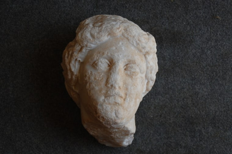 The head of an Aphrodite sculpture