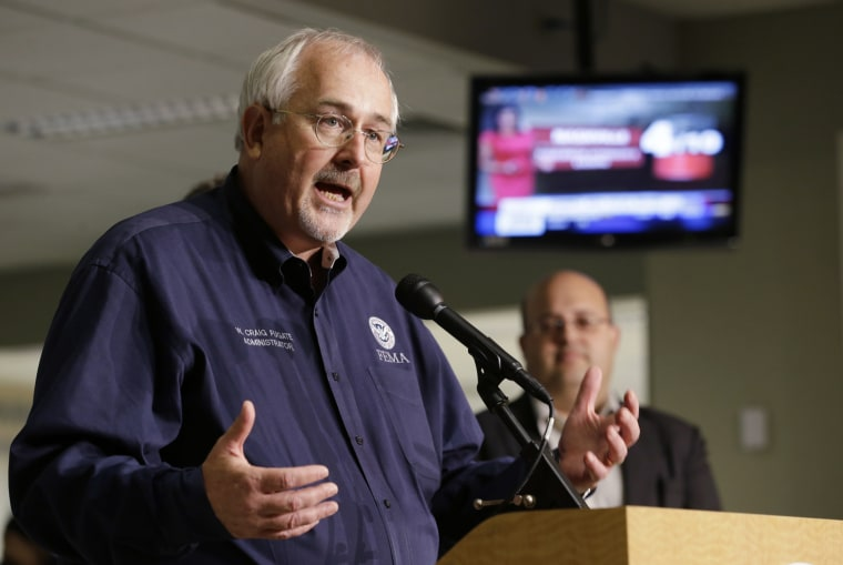 Craig Fugate, administrator of the Federal Emergency Management Agency, speaks at a news conference about the start of the Atlantic hurricane season on May 31.