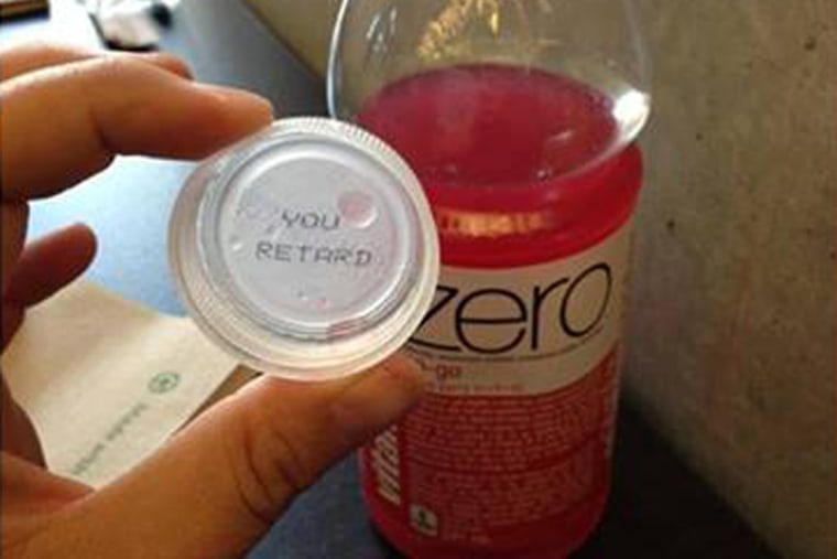 A vitaminwater promotion that printed random combinations of English and French words under the bottlecap ended up with an unintended mix that upset the father of a girl with disabilities.