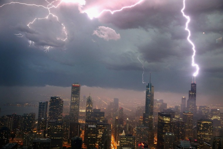 File photo of thunderstorm in Chicago