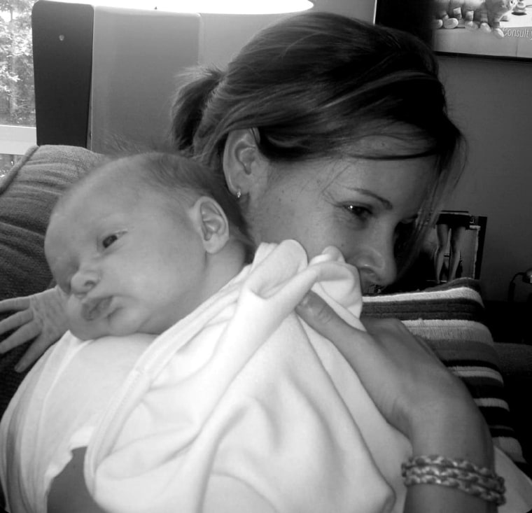 Jenna Wolfe and daughter Harper