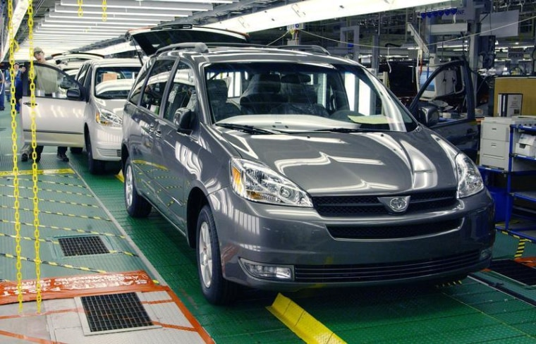 Toyota is recalling 615,000 Sienna minivans in the U.S. because of a problem with the shift lever that could result in unexpected rollaways.