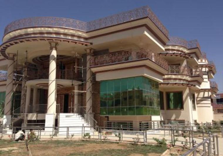 A luxury housing development under construction by developer Haji Hafizullah Caravan in a suburb of Kabul, Afghanistan.