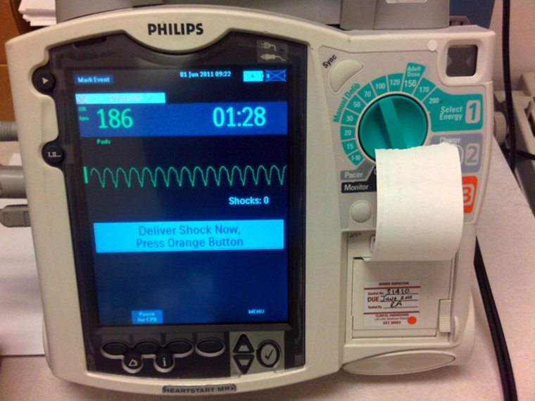 A tax on medical devices is a provision being debated in the fight over the new health care law as a government shutdown looms. Hospitals around the country have spent millions of dollars to buy automated defibrillators such as this device.