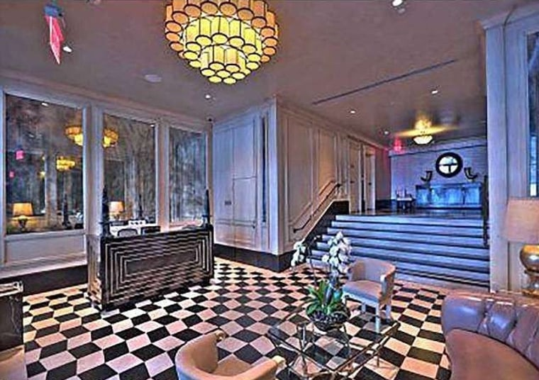 The 1927-era, 10-story Broadway Hollywood is one of Los Angeles' most iconic addresses and includes this lobby sitting area.