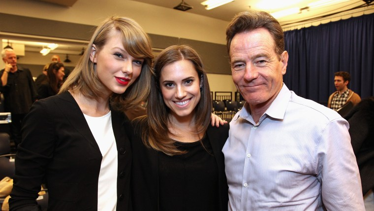 Image: Taylor Swift, Allison Williams and Bryan Cranston
