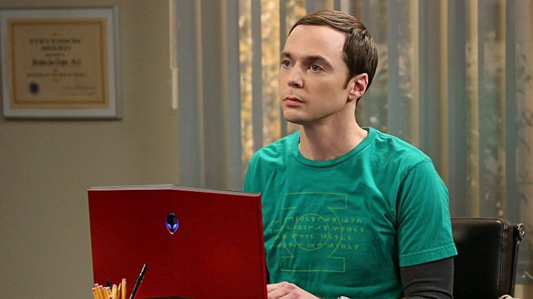 "Jim Parsons as Sheldon in ""The Big Bang Theory."""