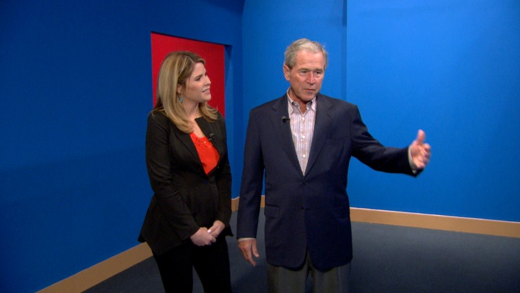 In an interview that will air Friday, TODAY's Jenna Bush Hager interviewed her father, former president George W. Bush, about his passion for painting and a public display of his work that will be held at his presidential library in Dallas this month.
