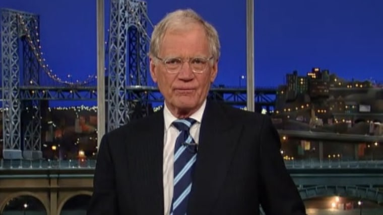 """David Letterman on """"Late Show"""" Wednesday night."""