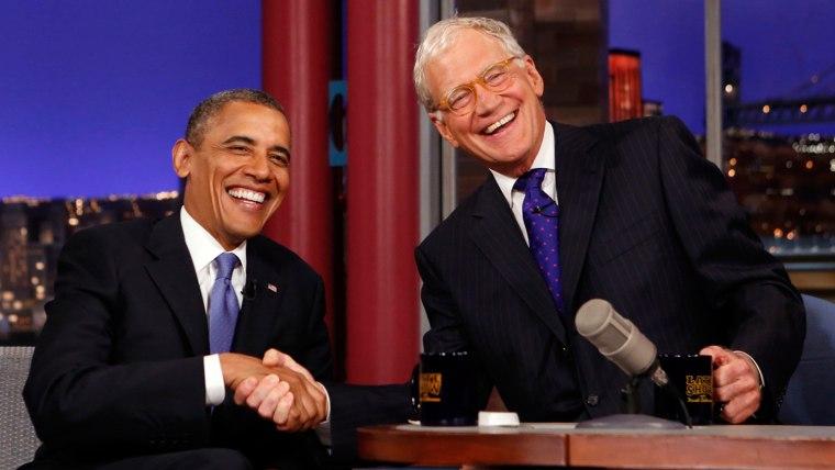 Image: David Letterman, President Obama