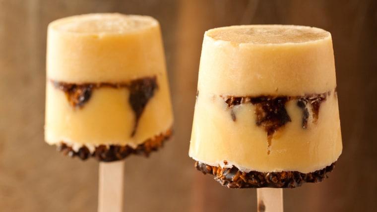 Samoa pudding pops