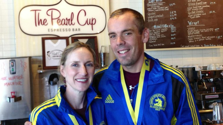 """Team Watling"" at the Dallas coffee shop where they met, the Pearl Cup."