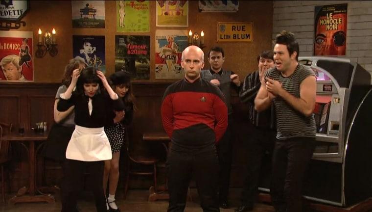 "Image: ""Saturday Night Live"" cast and host Anna Kendrick"
