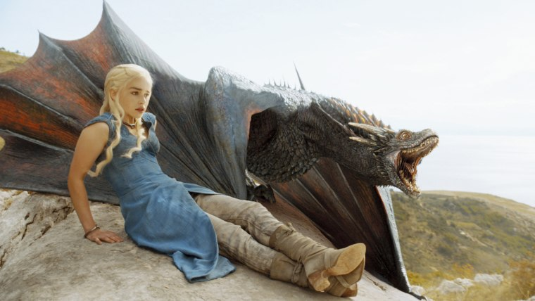 """Image: Emilia Clarke as Dany on """"Game of Thrones"""""""