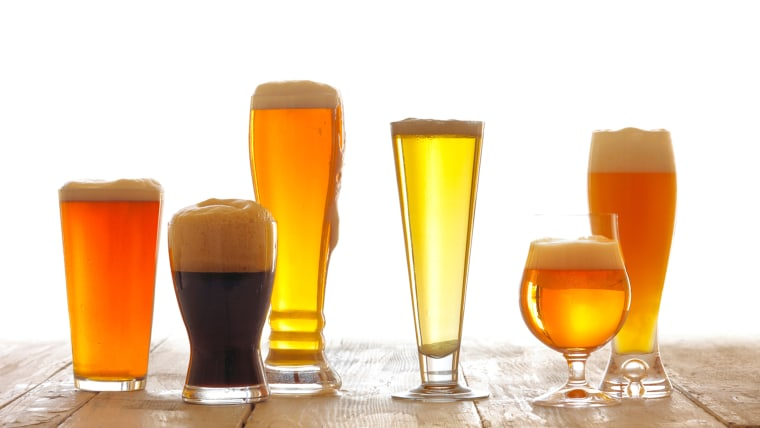 beer, glasses, varieties, beers, alcohol, drink, bar