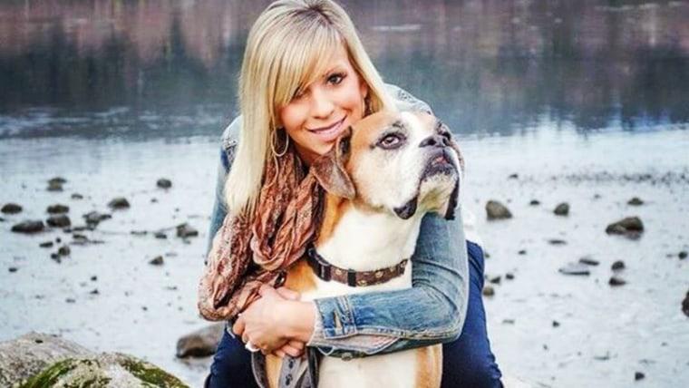 Riina Cooke and her dog, Romeo.