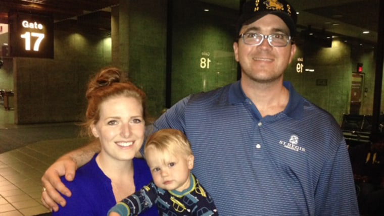 Sgt. Patrick Zeigler with his wife Jessica and son Liam