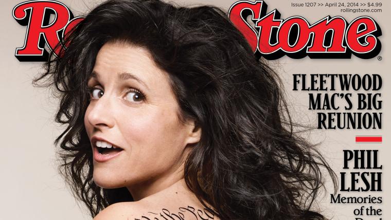 Image: Julia Louis-Dreyfus on Rolling Stone.