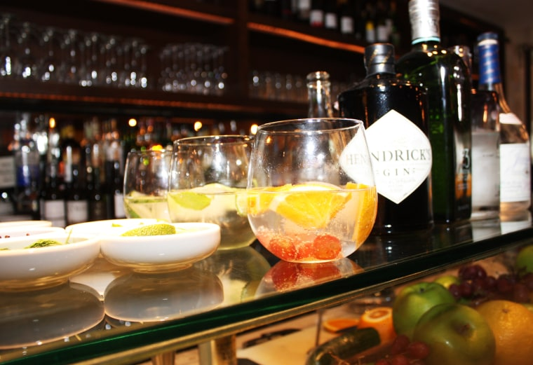 Gin and tonic with a twist at Boqueria in New York City.