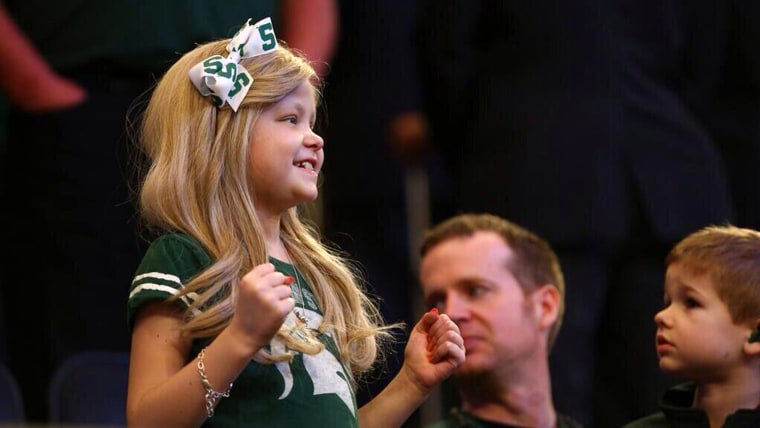 Lacey Holsworth, who had an adorable and inspiring friendship with Michigan State basketball star Adreian Payne, died at 8 years old from cancer on Wednesday morning.