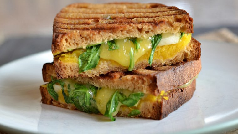 Grilled cheese with pumpkin and cheddar