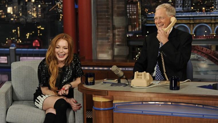 Image: Lindsay Lohan, David Letterman