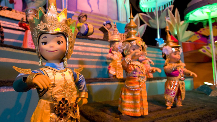 """The classic Disney parks attraction, """"it's a small world,"""" debuted at the 1964 World's Fair."""