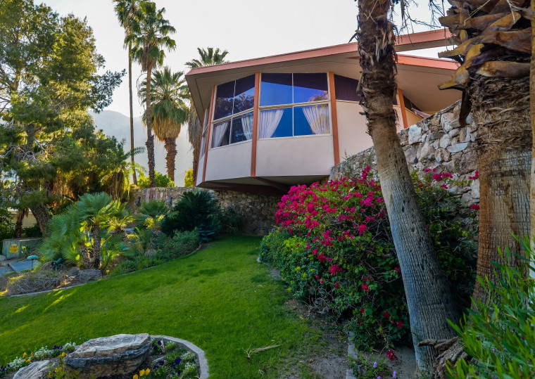 The Presley home offers views of the Santa Rosa Mountains and the Coachella Valley.