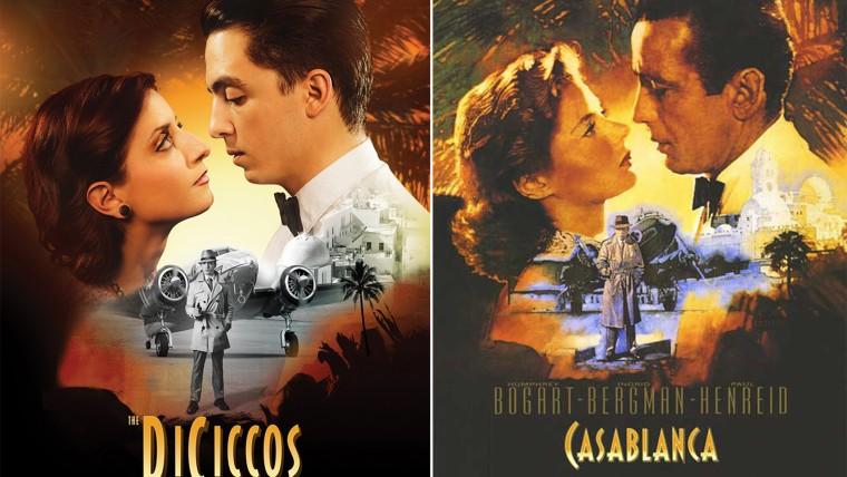 Couple recreates movie posters for wedding