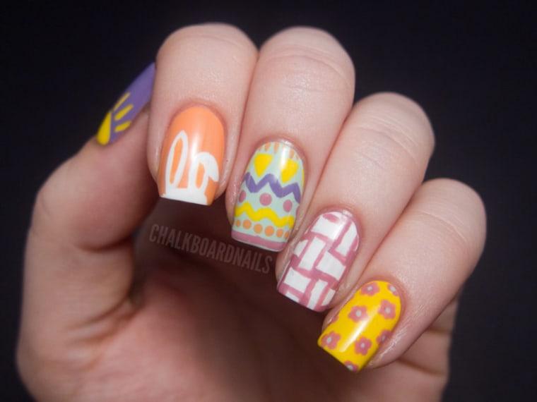 Bunnies! Eggs! 10 D-I-Y Easter nail art designs