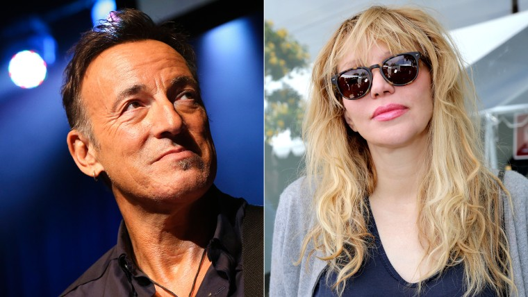Image: Bruce Springsteen and Courtney Love