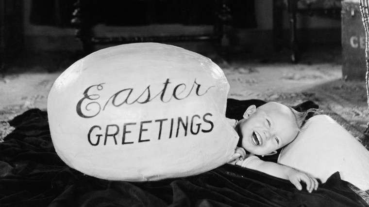 Image: Boy hatching from a big egg