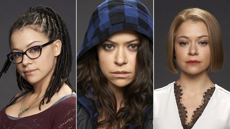 """Tatiana Maslany in three of her clone roles in """"Orphan Black."""""""