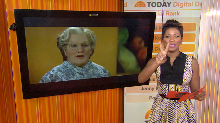 Tamron Hall reveals that there will be a Mrs. Doubtfire sequel on TODAY