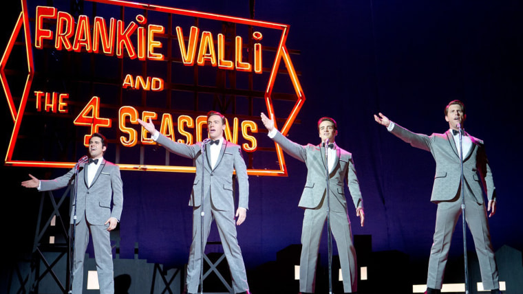 John Lloyd Young, Erich Bergen, Vincent Piazza and Michael Lomenda in Warner Bros. Pictures' Jersey Boys (2014)