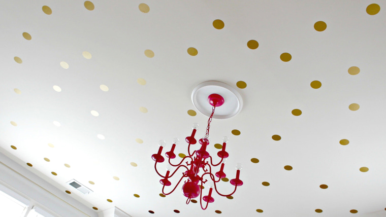 Stencils, stars and shine: 9 D-I-Y ceiling projects