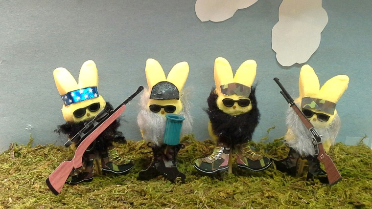 Image: Peeps dressed up like characters from Duck Dynasty