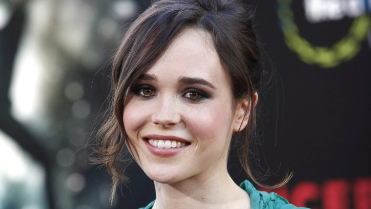 epa04078703 (FILE) The file picture dated 13 July 2010 shows Canadian actress Ellen Page arriving at the US premiere of 'Inception' held at the Grauma...