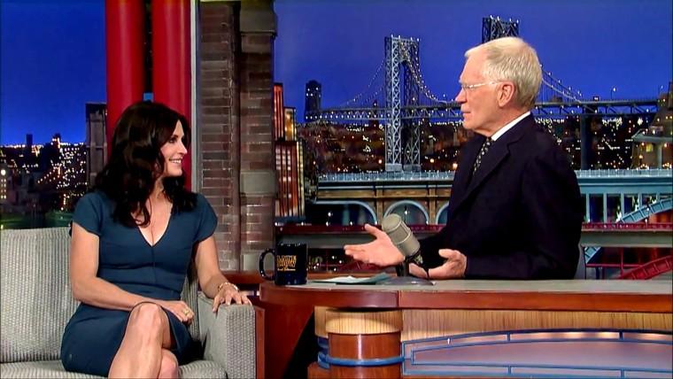 Courteney Cox, David Letterman