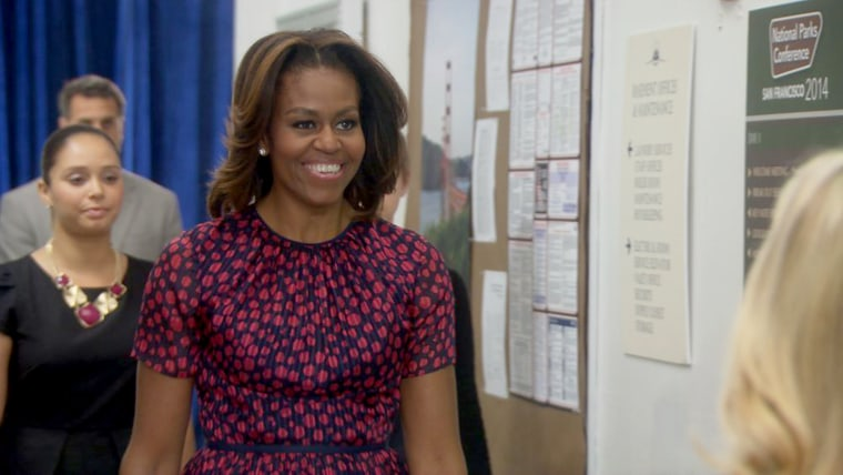 """Michelle Obama appears in the season finale of """"Parks and Recreation."""""""