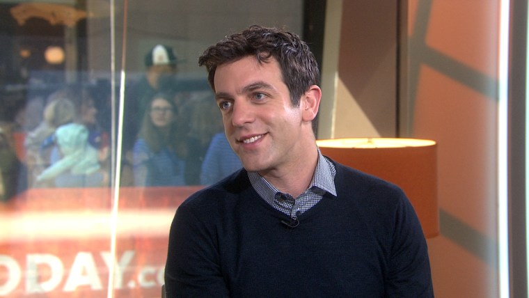 "BJ Novak appears on TODAY to promote the new movie ""Spiderman 2"""