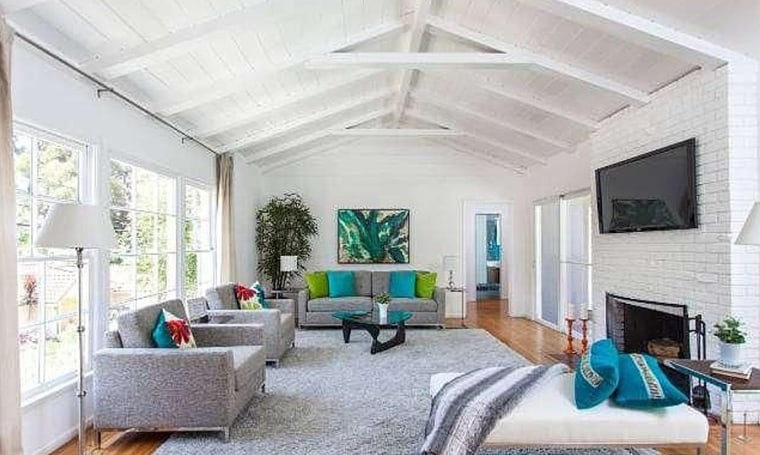 Ellen Page's Studio City home has lots of windows and beamed ceilings.
