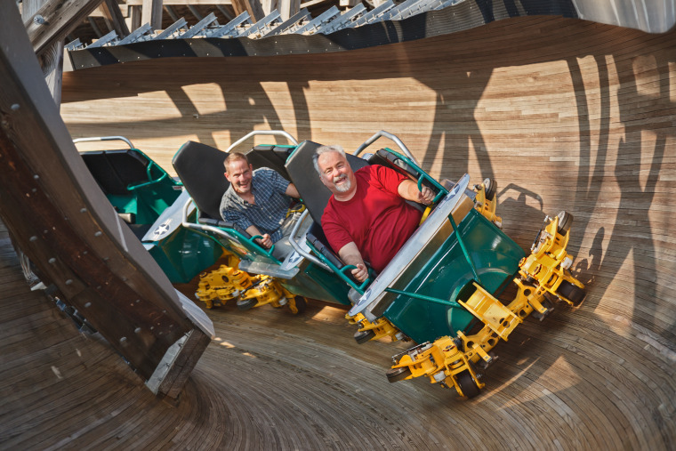 Image: Flying Turns coaster opens on April 26, 2014.