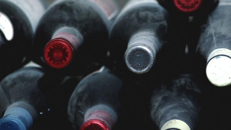 Photo of wine bottles