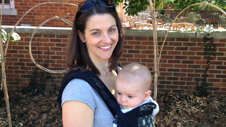 Tarah Chieffi and 8-month-old Avery.