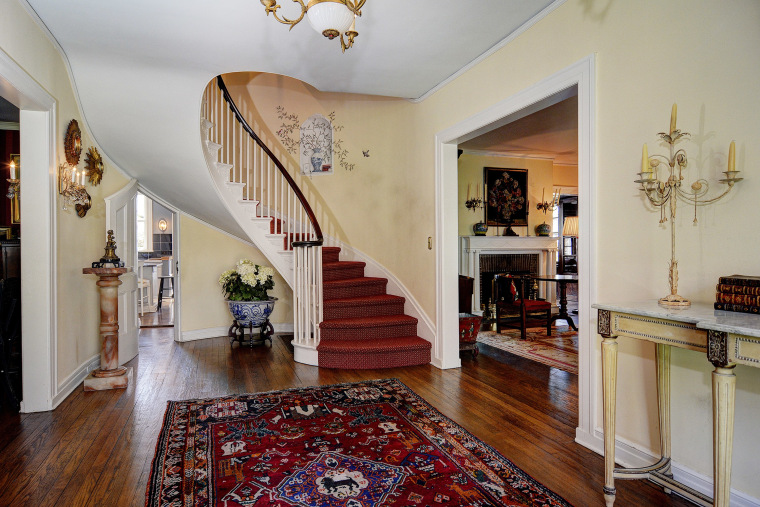 Yogi Berra's wife, Carmen, fell in love with the grand staircase in their Montclair, N.J., home.