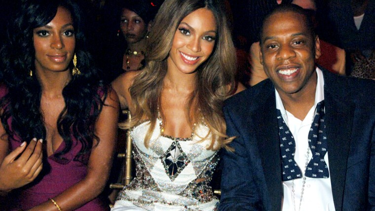 Image: Solange, Beyonce and Jay Z