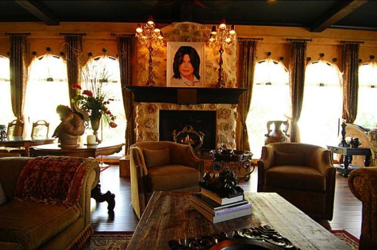 The King of Pop's portrait still hangs above the fireplace of the home he rented before his death.